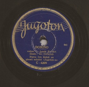 Ivo Robić – Domino on 78 rpm record (1952)