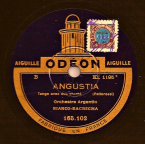 Orquesta Típica Bianco-Bachicha – Angustia (Tango) on 78 rpm record