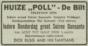 Dick Elgg and his Tahitians at Huize Poll club in De Bilt (October 17 1951)