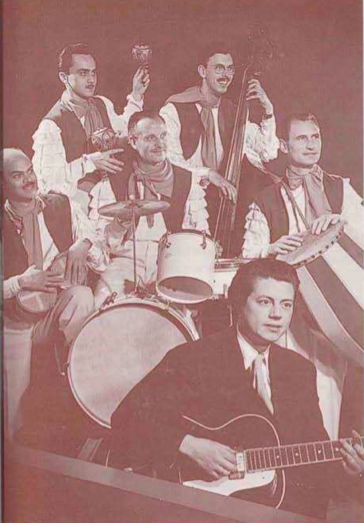 Dick Elgg and his orchestra at Huiz Maas, Groningen, summer 1953