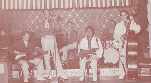 Dick Elgg and his orchestra at Habanera Club, Rotterdam, 1953
