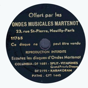 Electronic music in 1937: a promotional 78 rpm record for the Ondes Martenot
